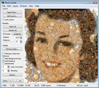 Photo Jumble for MS Windows - Main screen