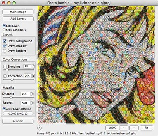 Photo Jumble for Mac OS X - Main screen